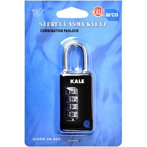 Kale KD00120300 Asma Kilit 4 Basamaklı Şifreli