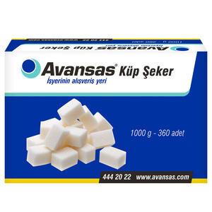 Avansas Küp Şeker 360'lı 1 kg