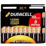 Duracell Alkalin AA Kalem Pil Ekonomik 13+5'li Paket