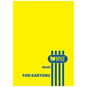 Umut Fon Kartonu 50 cm x 70 cm Sarı 100'lü Paket
