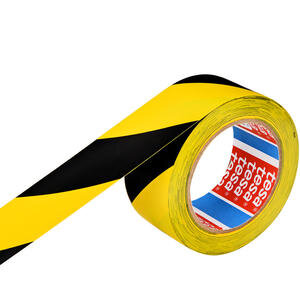 Tesa 60760 Yer İşaretleme İkaz Bandı 50 mm x 33 m Sarı / Siyah Çizgili