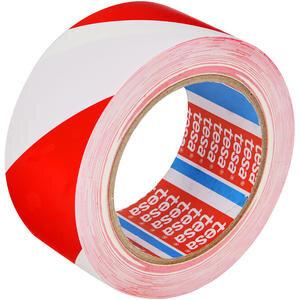 Tesa 60760 Yer İşaretleme İkaz Bandı 50 mm x 33 m Kırmızı / Beyaz Çizgili