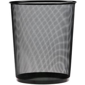 Avansas 1123 Metal Delikli Çöp Kovası Siyah 11 lt