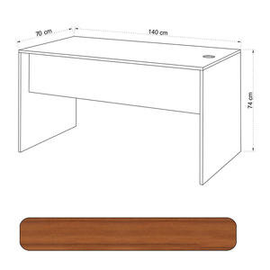 Avansas Comfort Çalışma Masası 140 cm Teak