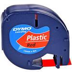 Dymo Letratag Plastik Etiket 12 mm x 4 m Kırmızı