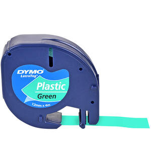 Dymo Letratag Plastik Etiket 12 mm x 4 m Yeşil