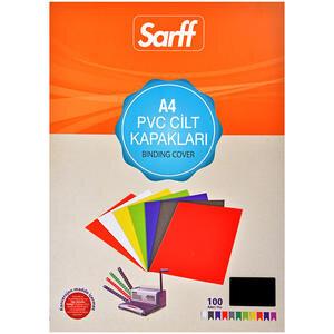 Sarff Cilt Kapağı Pvc 160 Mikron Siyah A4 100'lü Paket
