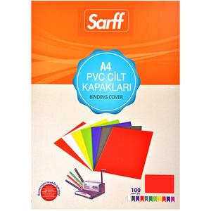 Sarff Cilt Kapağı Pvc 160 Mikron Kırmızı A4 100'lü Paket