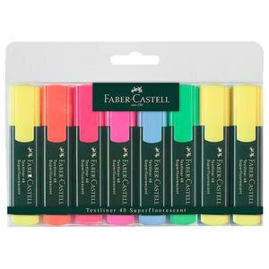 Faber Castell 1548 Fosforlu Kalem Karışık Renk 6+2 Adet