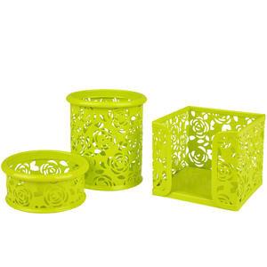 Avansas Metal Masaüstü Gül Yeşili 3'lü Set