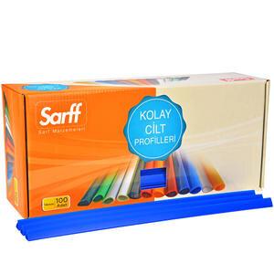 Sarff Plastik Geniş Sırtlık 15 mm Mavi 100'lü Kutu