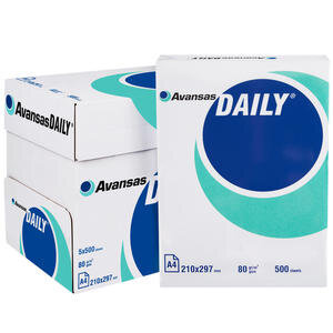 Avansas Daily A4 Fotokopi Kağıdı 80 gr 1 Koli (5 Paket)