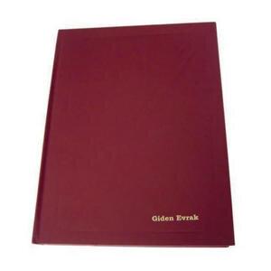 Dilman Giden Evrak Kayıt Defteri Ciltli 192 Yaprak 20 cm x 28 cm