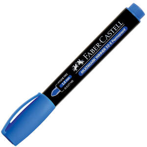 Faber Castell 52 Marker Kalem Yuvarlak Uç Mavi
