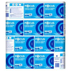 Focus Dispenser Havlu Extra Z Katlama 22,5 cm x 24 cm 1 Koli (12 Paket)