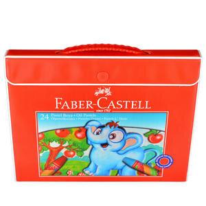 Faber Castell 125124-5 Pastel Boya Plastik Çantalı Tutuculu 24 Renk