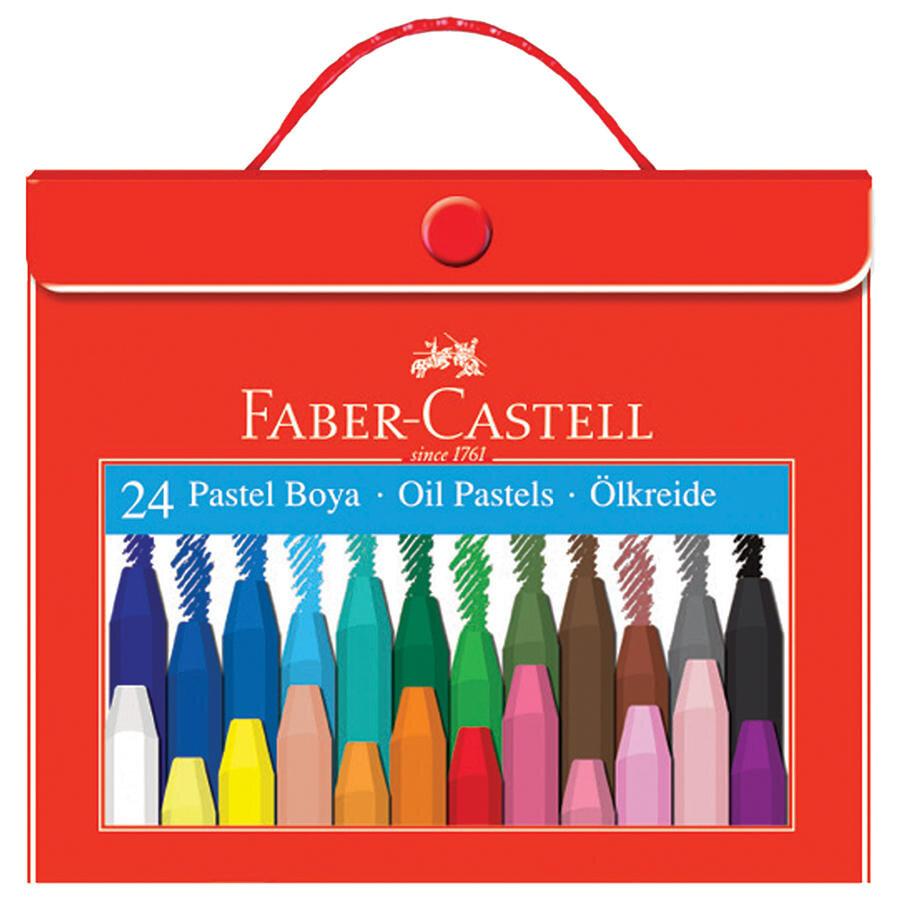 Faber Castell 125124 5 Pastel Boya Plastik Cantali Tutuculu 24