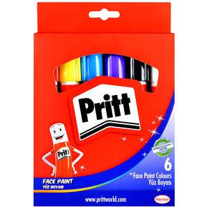 Pritt Yüz Boyası 8 gr Karışık Renkler 6'lı Paket
