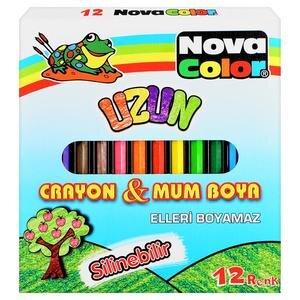 Nova Color Nc 2112 Uzun Mum Boya 12 Renk Avansascom