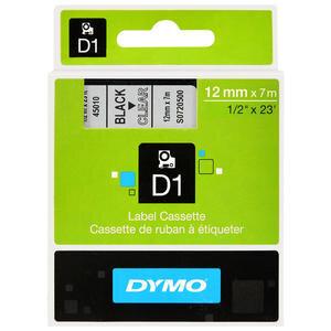 Dymo 45010 D1 Yedek Şerit 12 mm x 7 m Şeffaf / Siyah