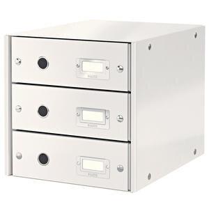 Leitz Wow C-S Evrak Rafı 3 Çekmeceli Metalik Beyaz