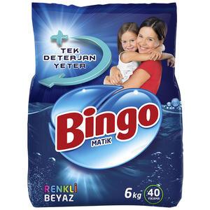 Bingo Matik Renkli-Beyaz Toz Çamaşır Deterjanı 6 kg