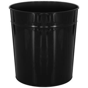 Avansas Metal Deliksiz Çöp Kovası Siyah 11 lt