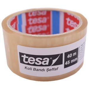 Tesa Akrilik Koli Bandı 45 mm x 40 m Şeffaf Tekli