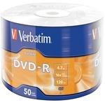 Verbatim 43791 DVD-R Wrap Matt Silver 16X 4.7 GB 50'li Paket