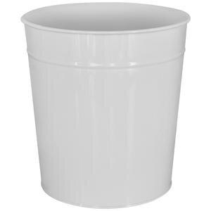 Avansas Metal Deliksiz Çöp Kovası Beyaz 11 lt