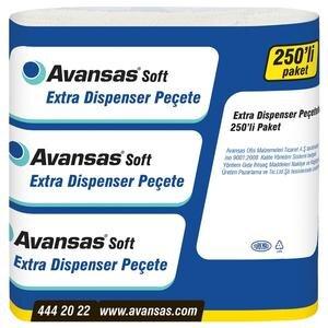 Avansas Soft Extra Masaüstü Dispenser Peçete 24 cm x 26,5 cm 18'li Koli