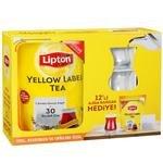 Lipton Jumbo Demlik Poşet Çay Yellow Label 20 g 40'lı-Ajda Bardak Hediyeli Paket