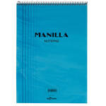 Le Color Manilla Notepad Bloknot Kareli A5 Mavi 70 Yaprak