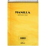 Le Color Manilla Yumuşak Sarı Kapaklı Spiralli Kareli Defter 15 cm x 21 cm 70 Yaprak