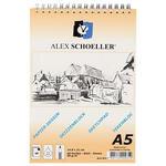 Alex Schoeller Spiralli Eskiz Blok Aydınger Kağıdı A5 90 gr 1 Paket (60 sayfa)
