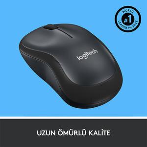 Logitech M220 Silent Kablosuz Mouse Siyah (Charcoal) 910-004878