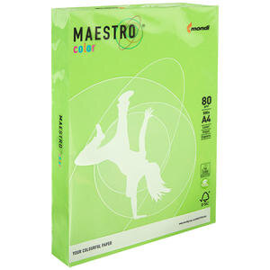 Maestro Color A4 Yeşil Fotokopi Kağıdı 80 gr 1 Paket (500 Sayfa)
