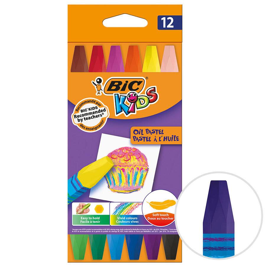Bic Kids 926446 Yagli Pastel Boya 12 Li Paket Avansas