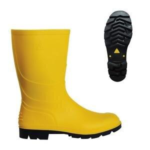 PVC Kısa Çizme Sarı No:42