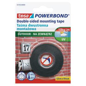 Tesa Powerbond Dış Mekan Çift Taraflı Köpük Montaj Bandı 1.5 m x 19 mm
