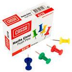 Cassa 8270 Karışık Renkli Harita Çivisi 20'li Kutu