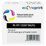 Econoprint DY LTR Plastik Şerit Etiket 12 mm x 4 m Şeffaf