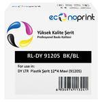Econoprint DY LTR Plastik Şerit Etiket 12 mm x 4 m Mavi