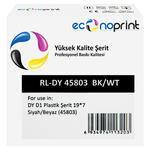 Econoprint DY D1 Yedek Şerit 19 mm x 7 m Siyah / Beyaz