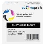 Econoprint DY D1 Plastik Şerit 12 mm x 7 m Mavi / Beyaz