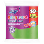 Parex Rengarenk Temizlik Bezi 10'lu Paket