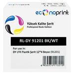 Econoprint DY LTR Plastik Şerit Etiket 12 mm x 4 m Beyaz