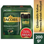 Jacobs Monarch Gold Kahve 200 gr Termos Bardak Hediyeli