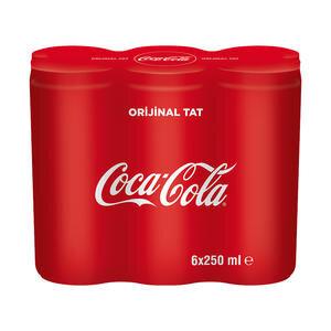 Coca-Cola Kutu 250 ml 6'lı Paket