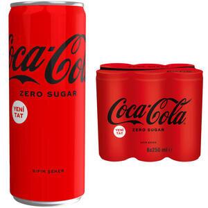 Coca-Cola Şekersiz Kutu 250 ml 6'lı Paket